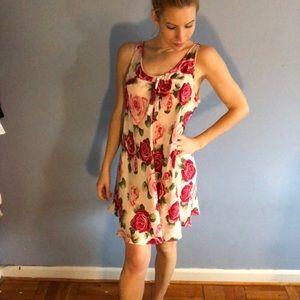Vintage silk roses dress!
